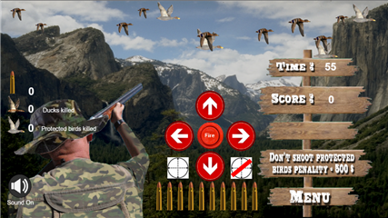 Hunter virtual game screen level 1