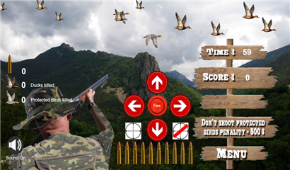 Hunter virtual game screen level 2
