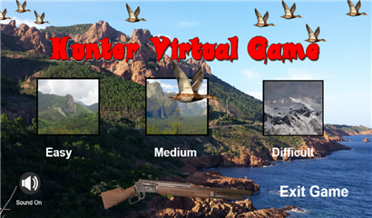 Hunter virtual game home page